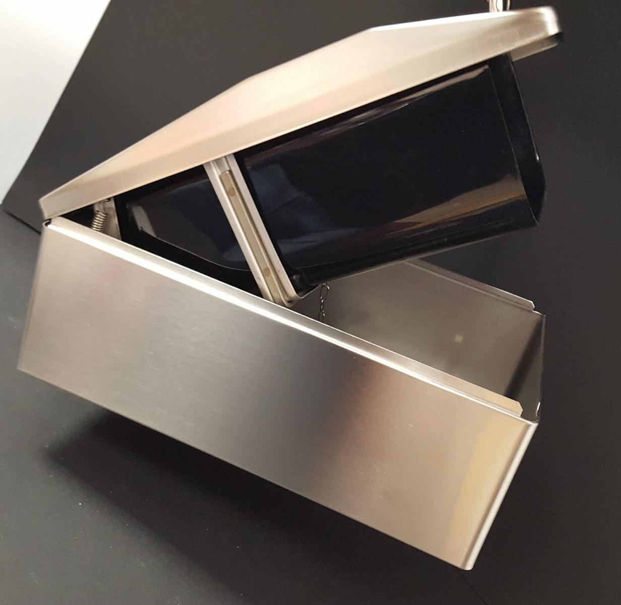 sanitaer franke abfallbeh lter f r kleinabf lle bs 611 v edelstahl 200x128x295mm. Black Bedroom Furniture Sets. Home Design Ideas