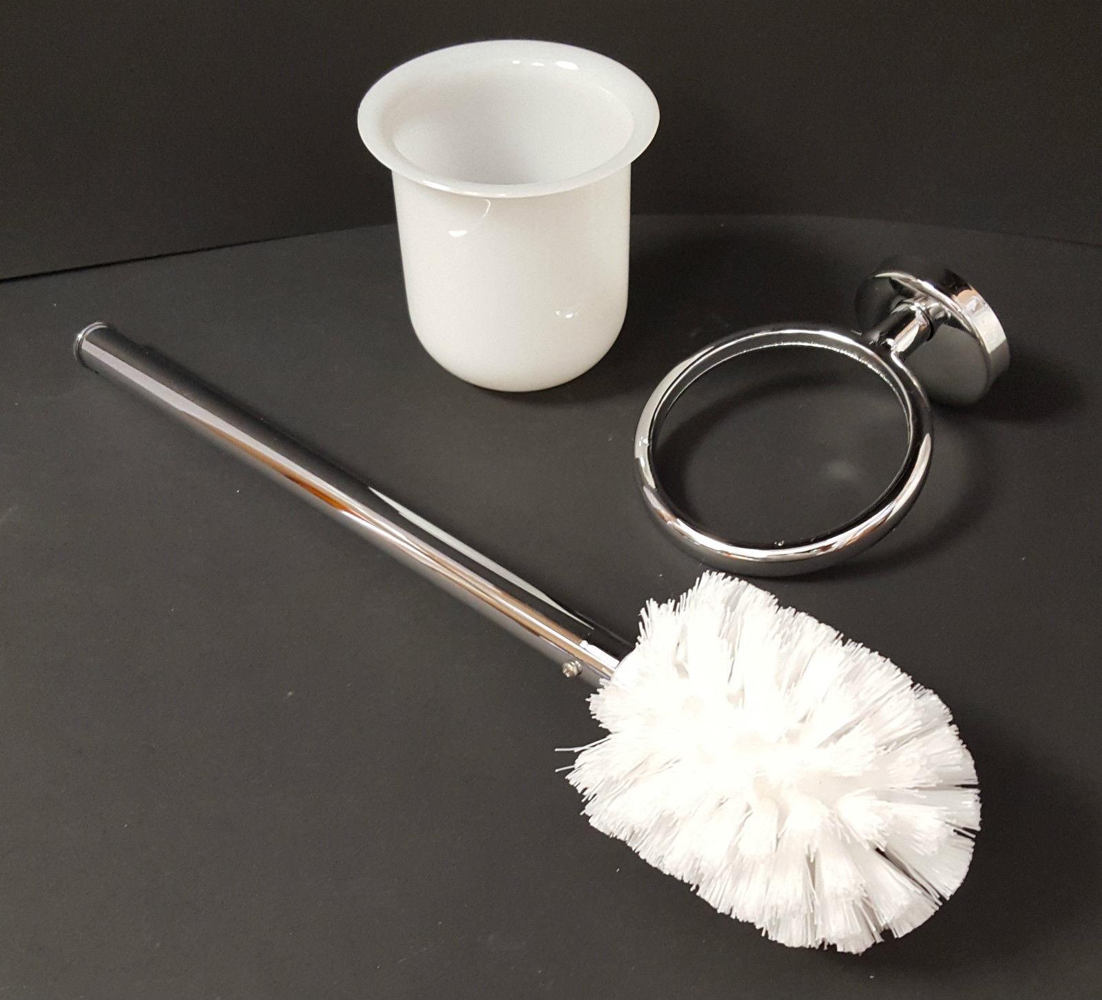 sanitaer wc b rstengarnitur h ngend mit kunststoffeinsatz elegantes design verchromt. Black Bedroom Furniture Sets. Home Design Ideas